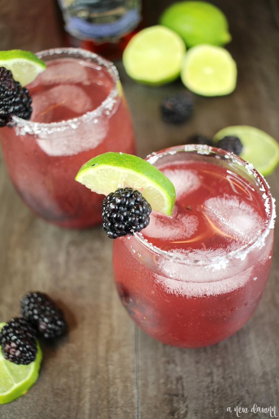Sparkling Blackberry Lime Margarita Images