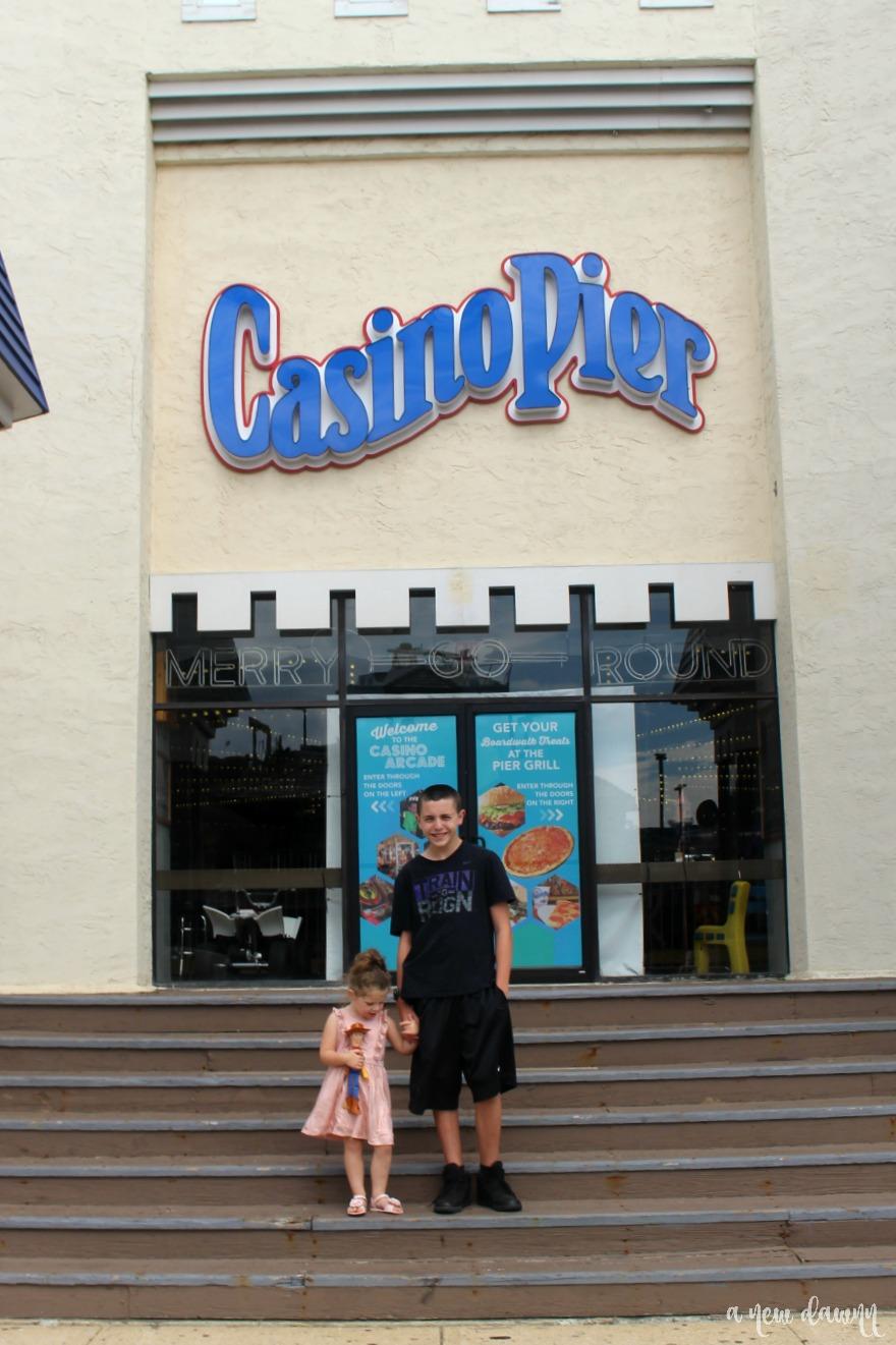 Front of Casino Pier in Seaside Heights, NJ