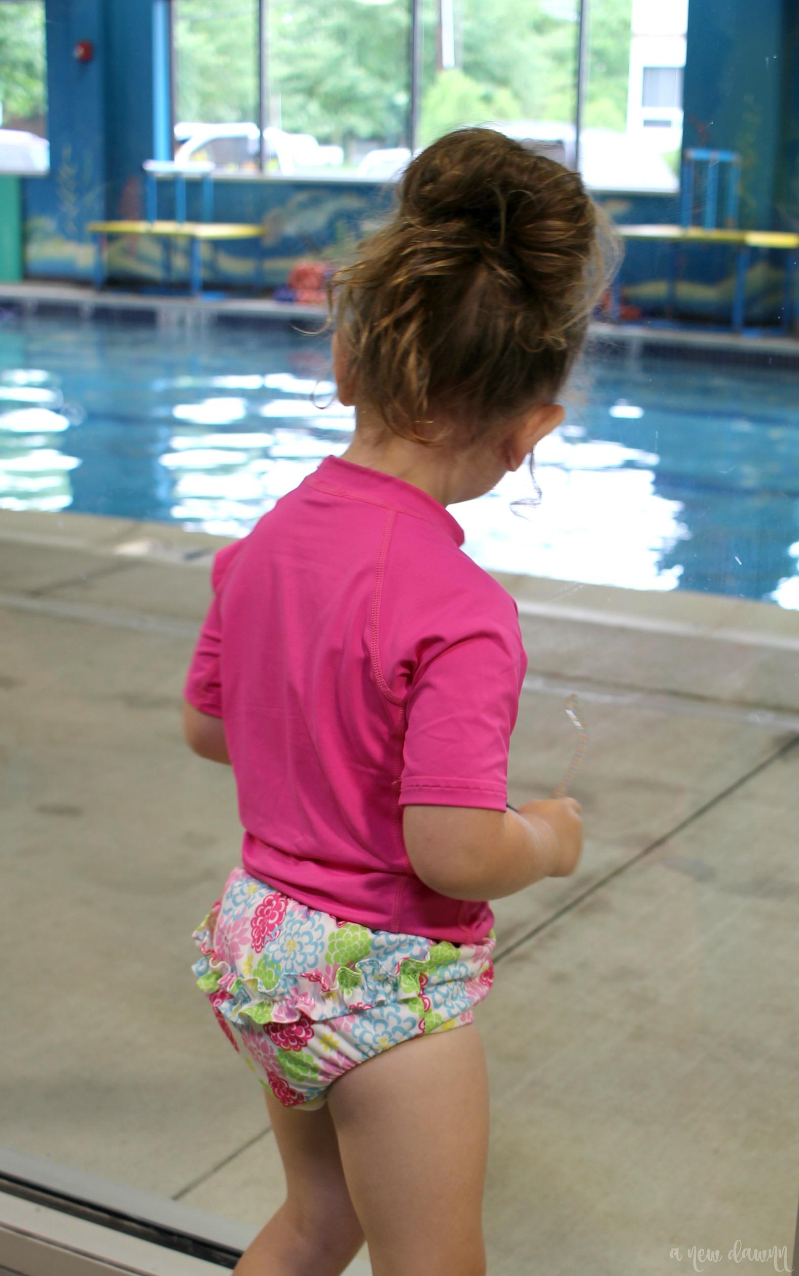Look at the pool at goldfish swim school