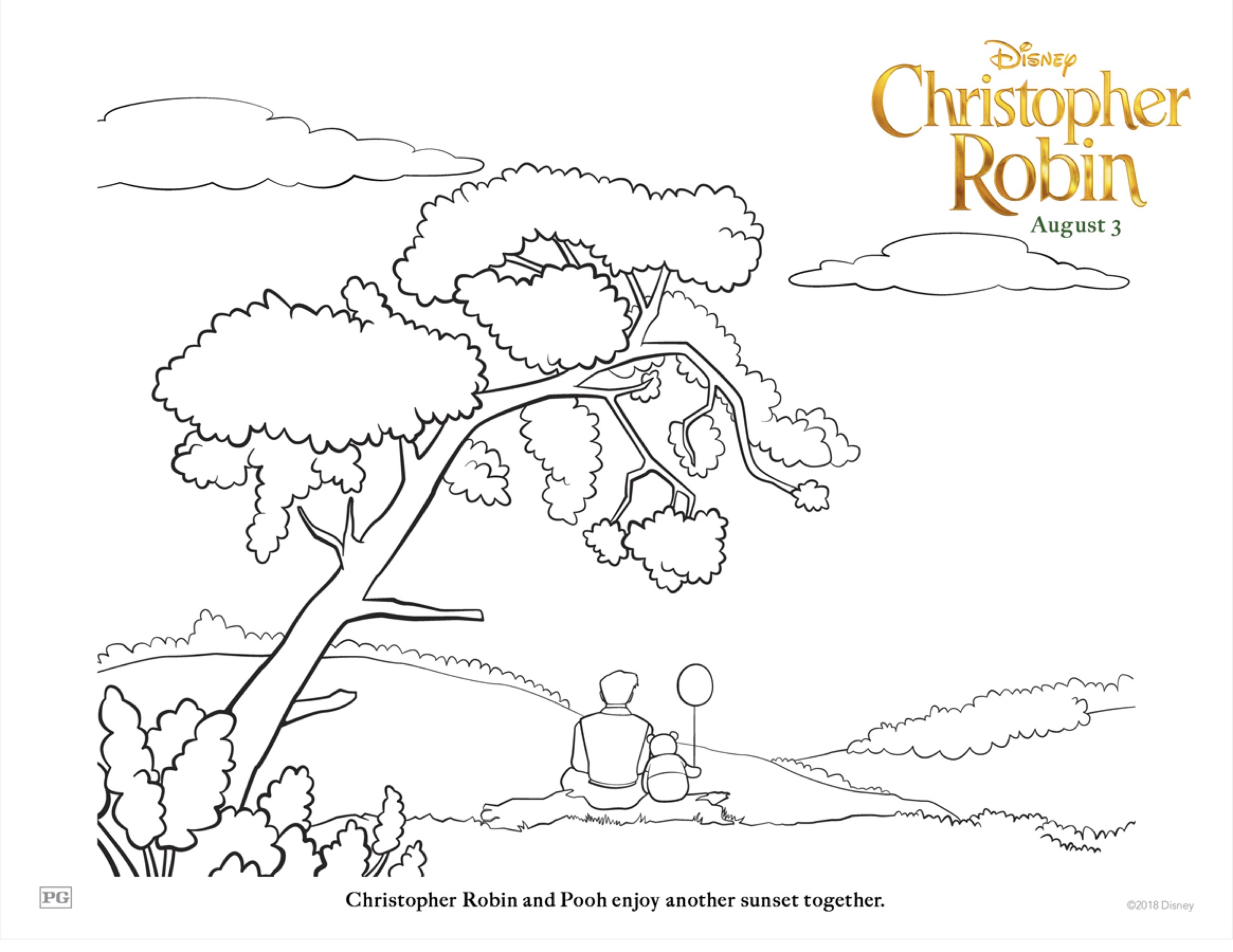 Christopher Robin COLORING SHEET