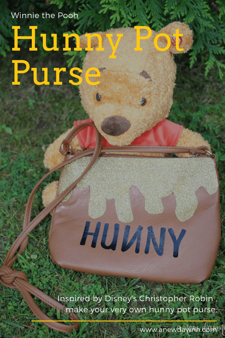 DIY Winnie the Pooh Hunny Pot Purse Inspired by Disney's Christopher Robin