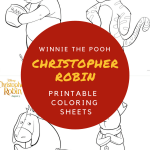 Christopher Robin & Winnie the Pooh Printable Coloring Sheets