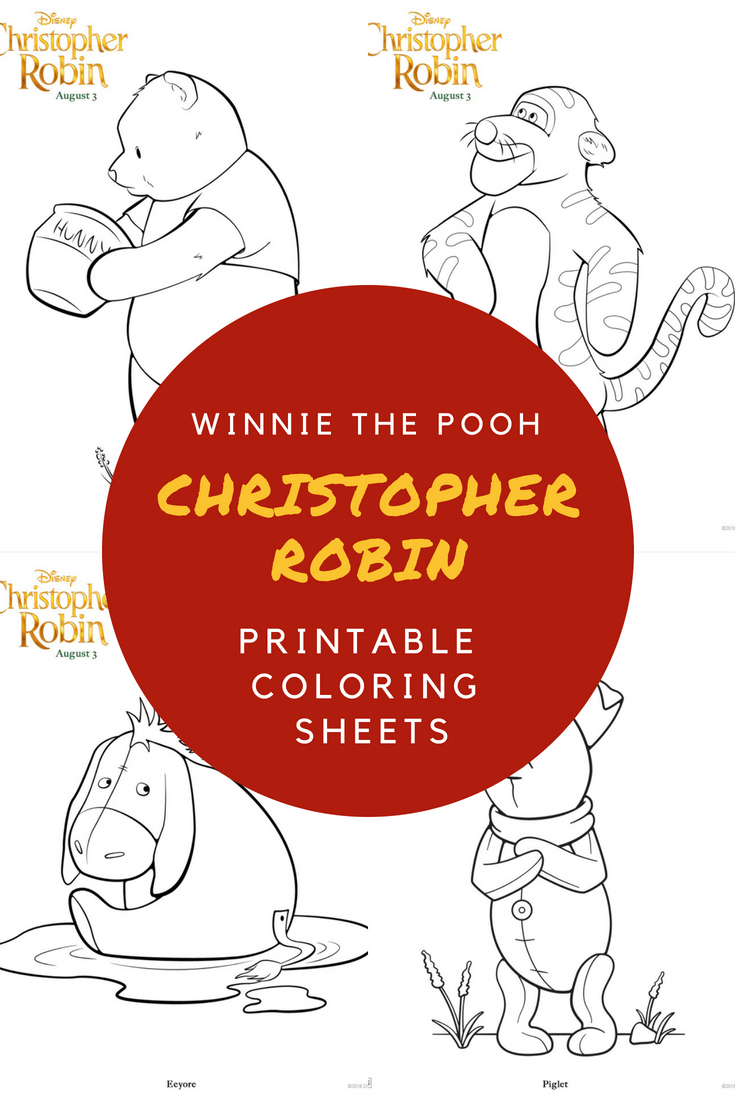 Christopher Robin Coloring sheets