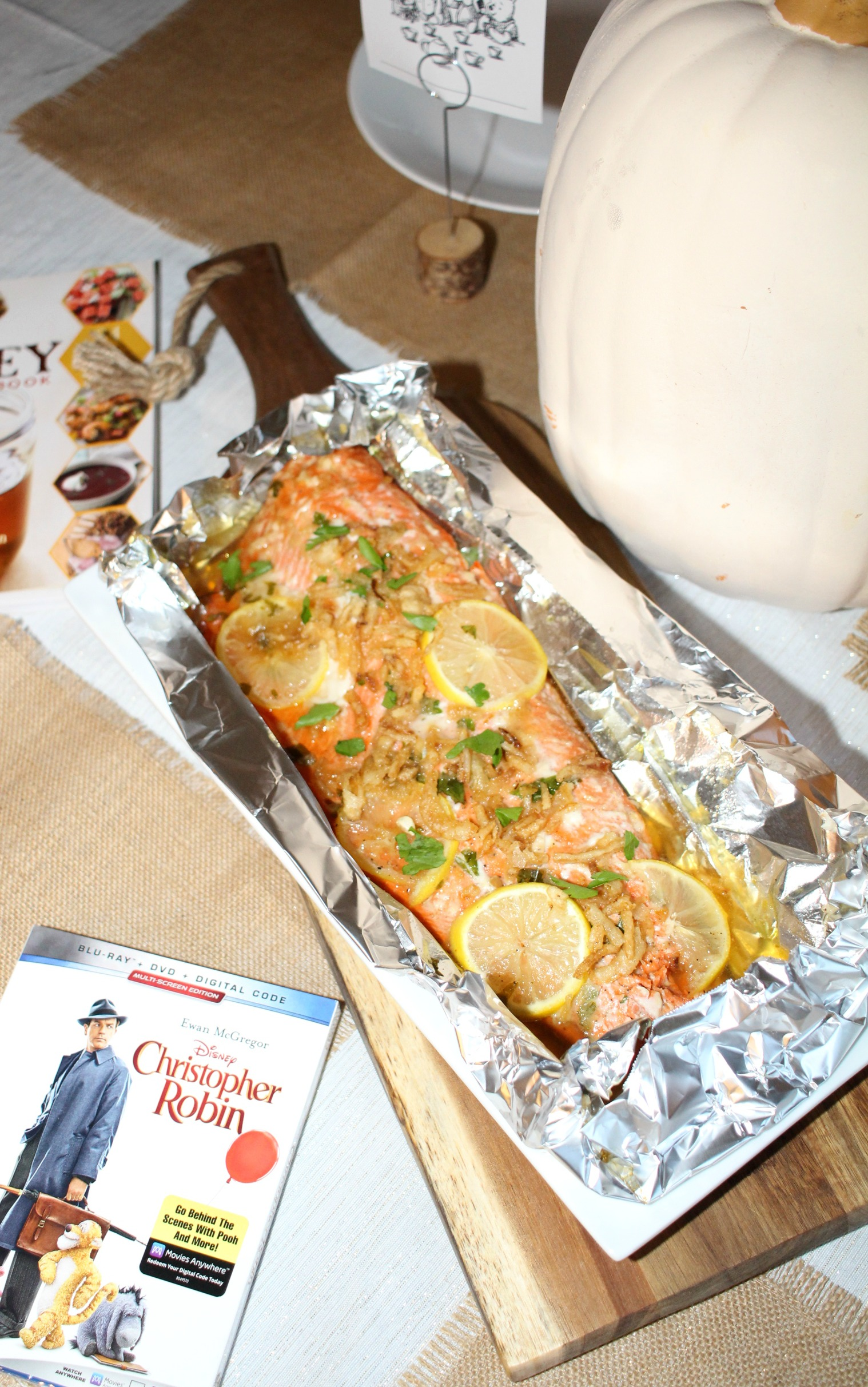 A Christopher Robin Friendsgiving - Honey Glazed Salmon Recipe