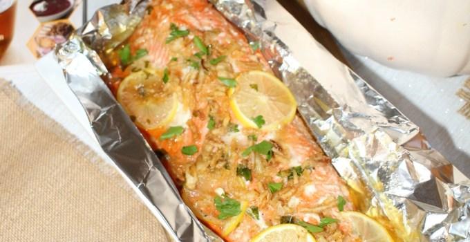 A Disney Christopher Robin Friendsgiving + Honey Glazed Salmon Recipe