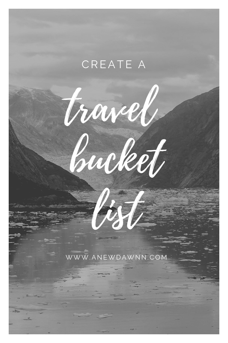 Create your own travel bucket list