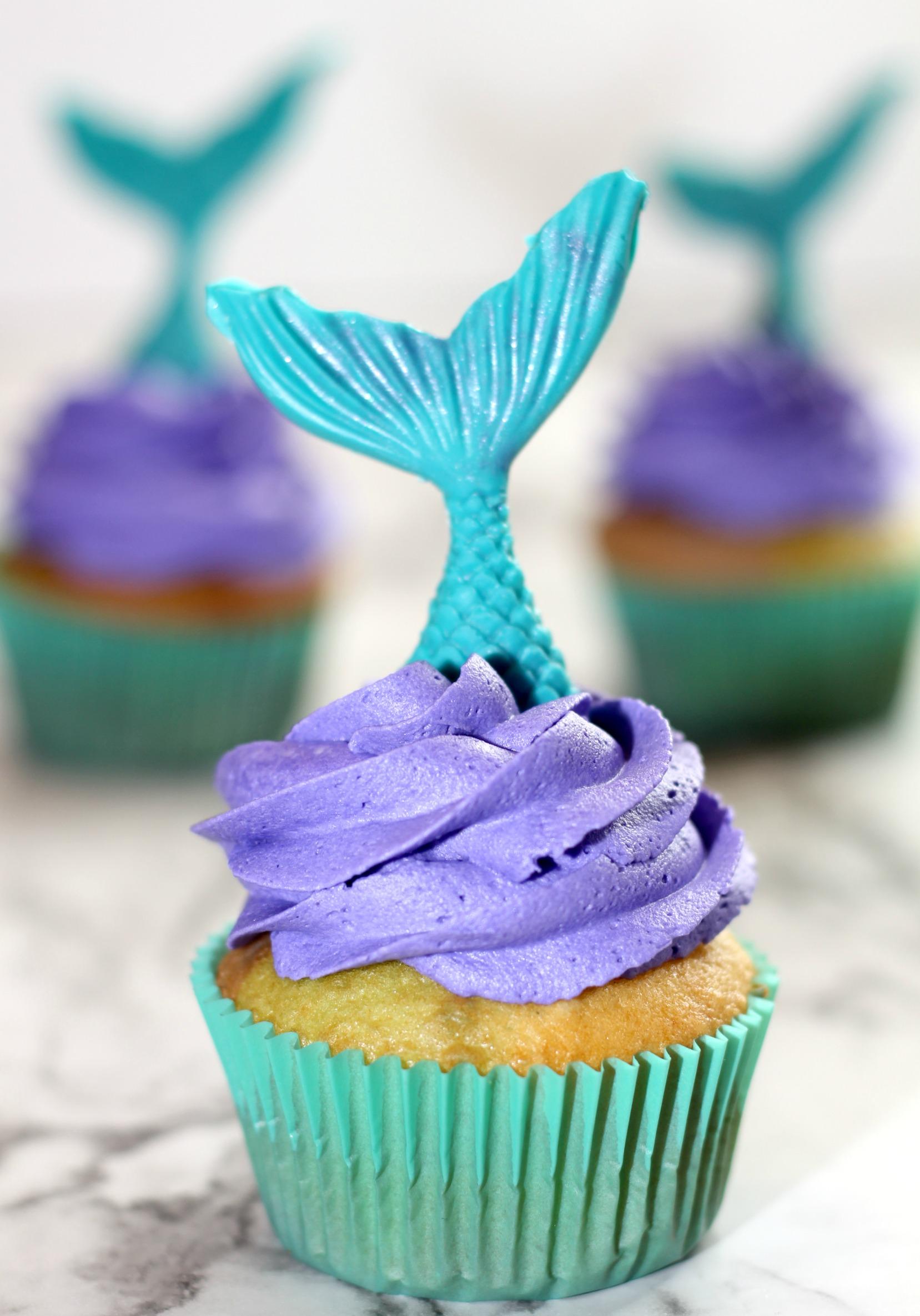 Little Mermaid Cupcakes
