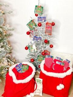 DIY Lottery Ticket Christmas Tree