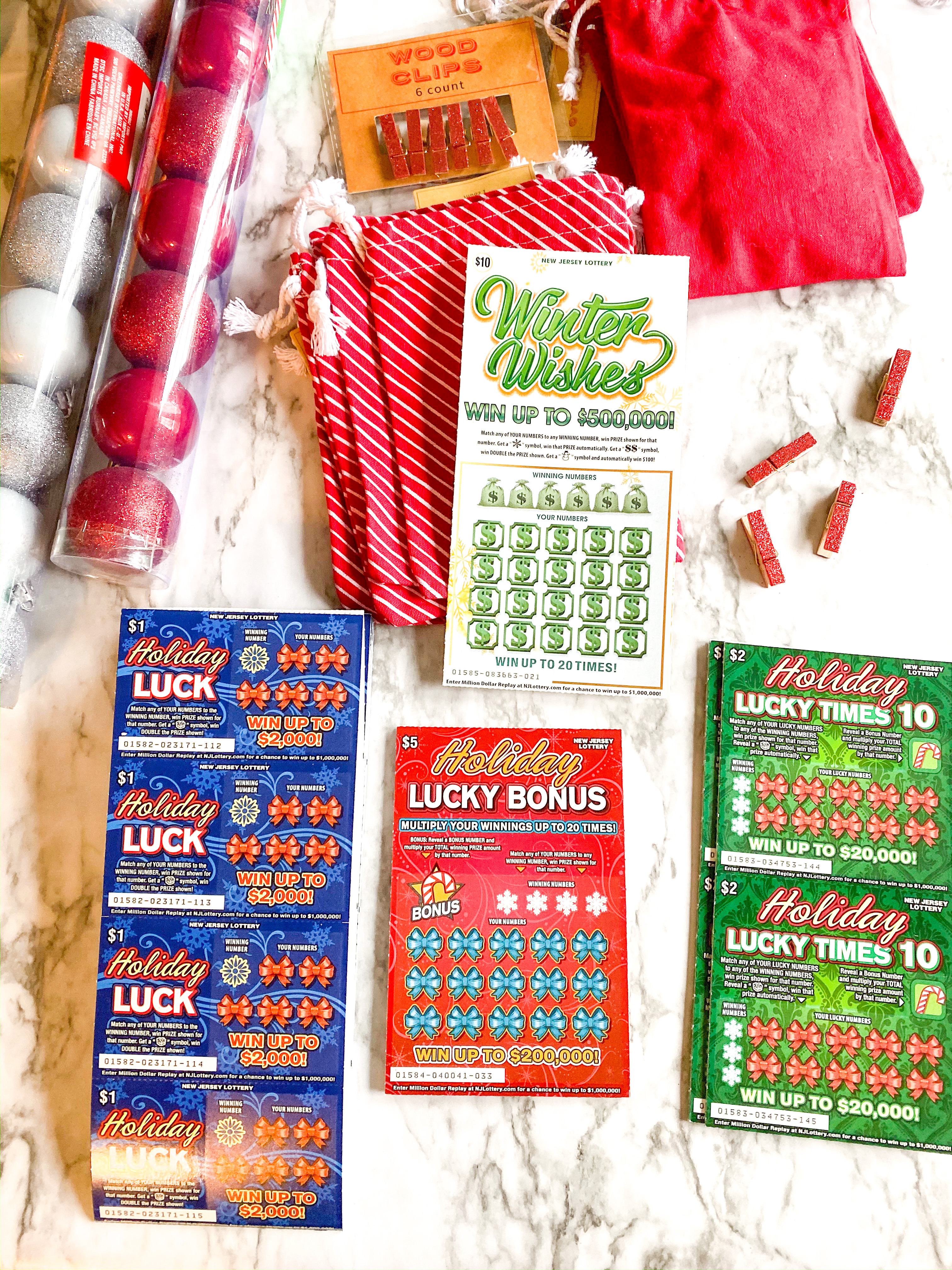 DIY Lottery Ticket Christmas Tree