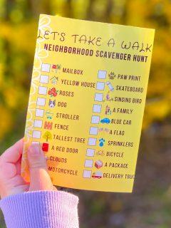 Free Neighborhood Scavenger Hunt Printable