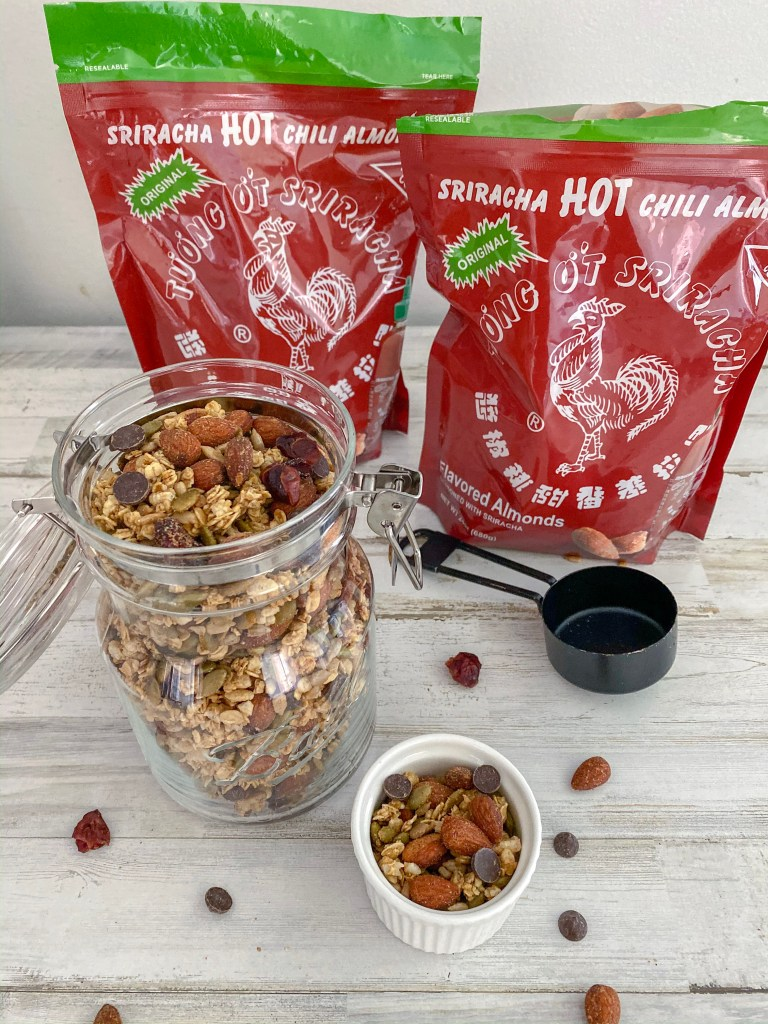Sweet and Spicy Homemade Granola Recipe in bags