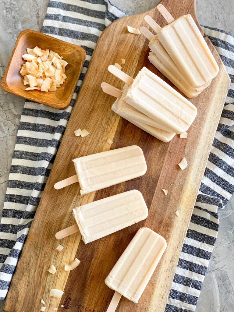 coquito popsicles