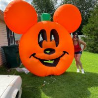 Bummed About MNSSHP Being Cancelled? This GIANT Inflatable Mickey Mouse Pumpkin Will Cheer You Up