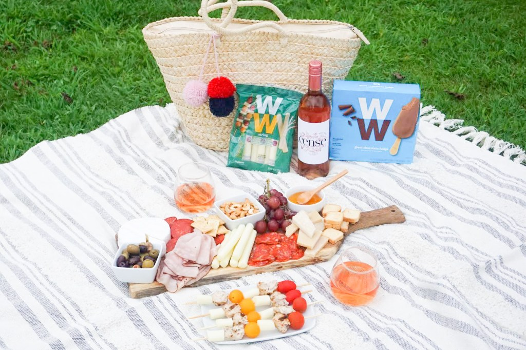 Simple WW Inspired Charcuterie picnic
