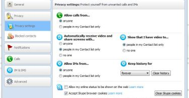 Skype Privacy Advanced