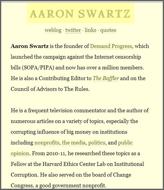 aaronswartzwebsite