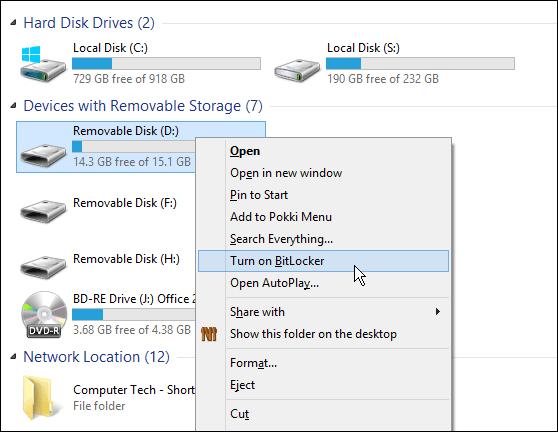 how to encrypt windows 7 drive