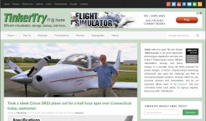 Flight Simulator ad on TinkerTry.com