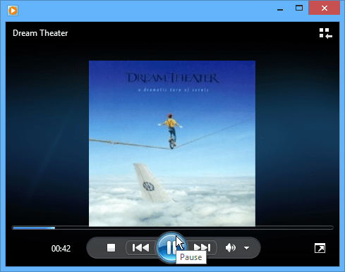 Windows Media Player Dream Theater