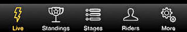 Tour de France NBC app 5 modes