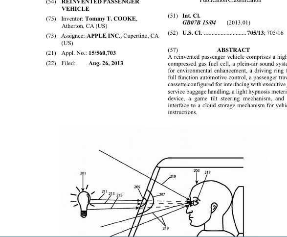 apple car patent application