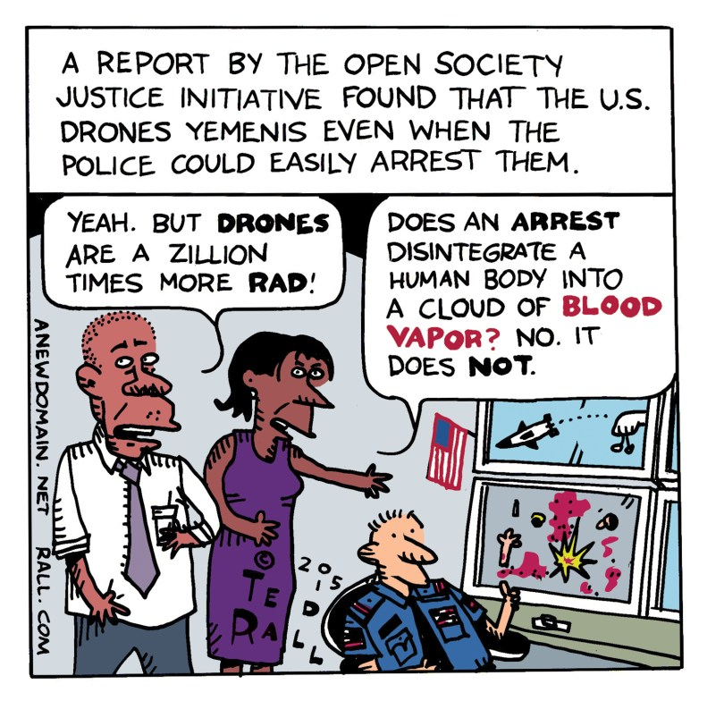 yemen drone strikes cartoon