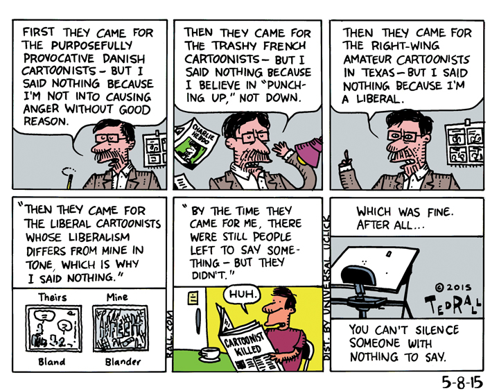 RIP political cartoonists ted rall