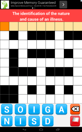 crossword for android blank puzzle