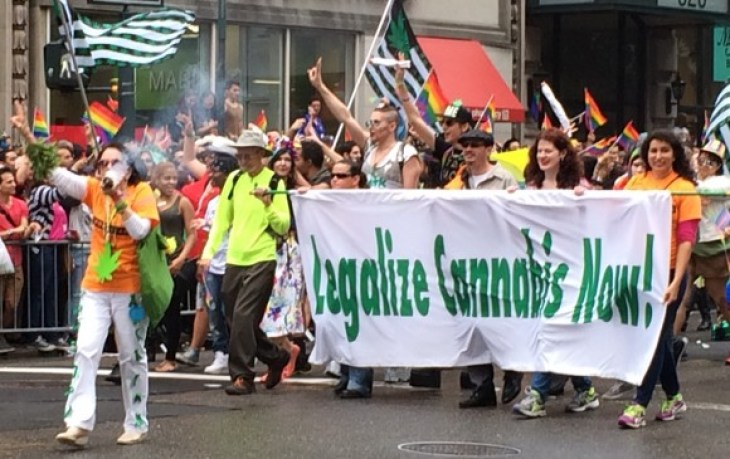 new york city pride parade 2015 cannabis marijuana