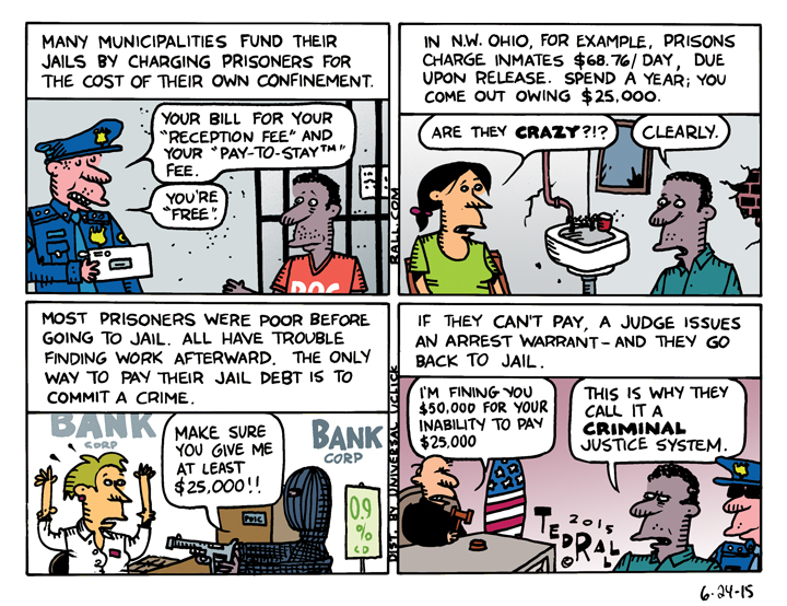 ted rall cartoon jail charges