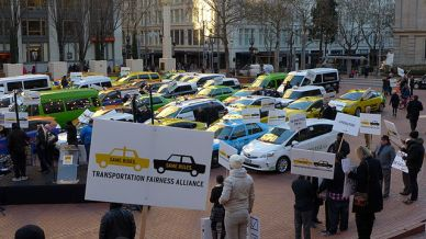 uber protest portland california uber ruling