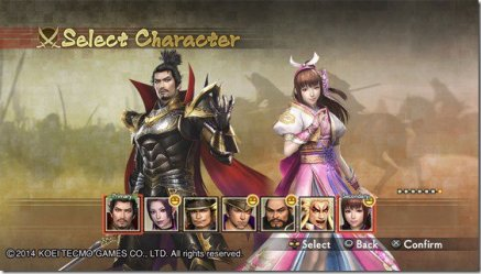 Samurai Warriors 4 character