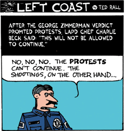 LA Times fires cartoonist Ted Rall after he criticized police in a column