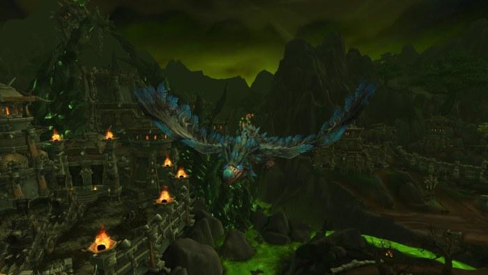 Flying tanaan jungle