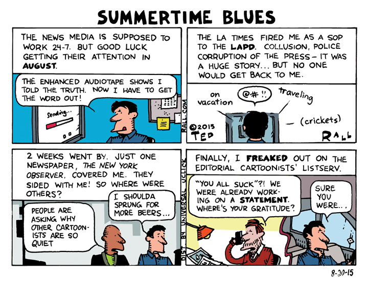 Ted Rall LA Times LAPD Scandal