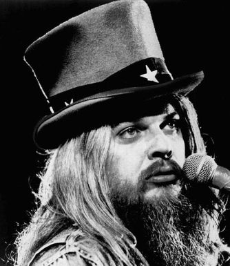 Leon Russell closeup 1973 a poem is a naked person