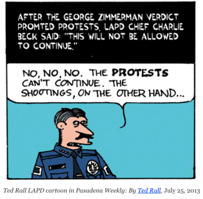 ted rall lapd la times scandal