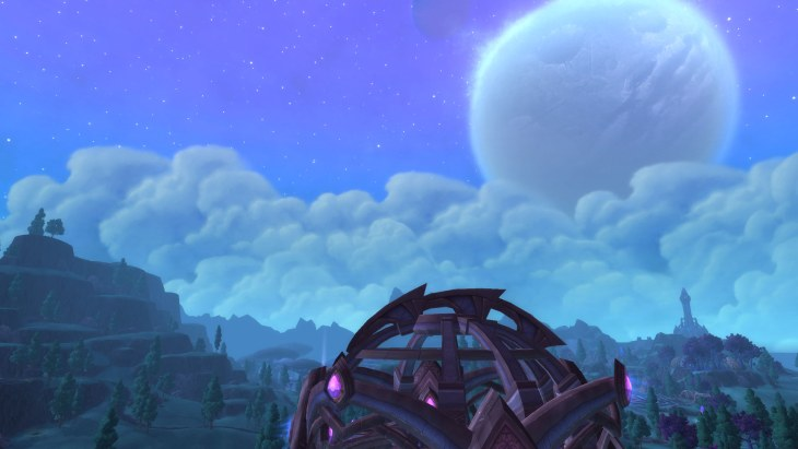 warlords of draenor Moon over valley