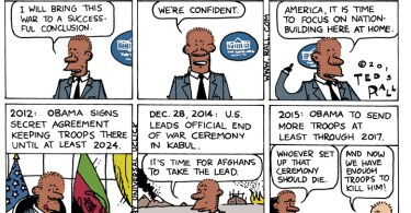 ted rall cartoon afghanistan