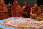 dalai lama sand painting