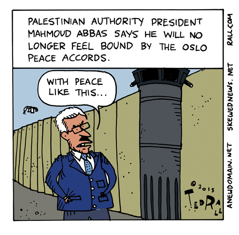 abbas peace accord ted rall cartoon