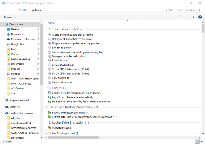 GodMode Folder how to activiate godmode find god mode Windows 10