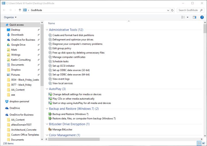 GodMode Folder how to activiate godmode find god mode Windows 10