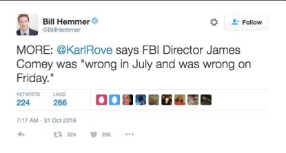 karl rove on james comey letter