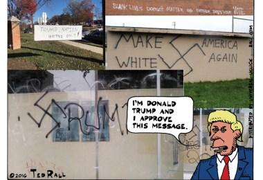 donald trump ted rall racism