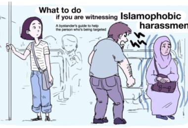 islamophobia what to do if you see someone harassing a muslim woman muslim man