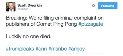 scott dworkin pizza gate tweet