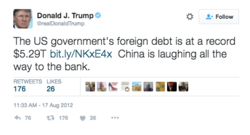 china warns donald trump china warned trump china warned donald trump tweets