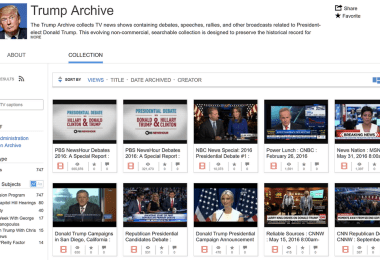 Trump Archive Internet Archive