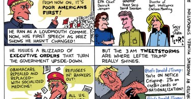 Ted Rall leftie donald trump if donald trump was a liberal leftie